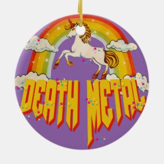 Unicorns of Death Metal Ceramic Ornament