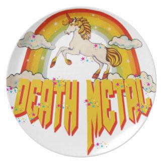 Unicorns of Death Metal Dinner Plate