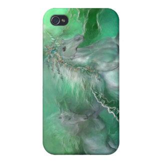 Unicorns Of The Sea Art Case for iPhone 4