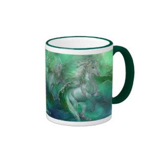 Unicorns Of The Sea Art Mug