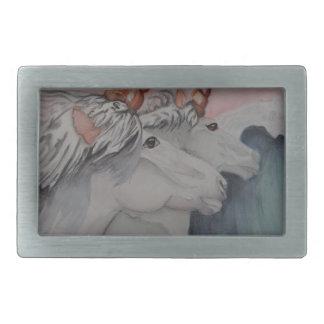 unicorns of the sea rectangular belt buckles