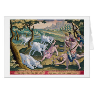 Unicorns on the Banks of the Indus, Hunted by Perm Card