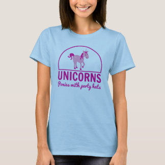 Unicorns, Ponies with Party Hats T-Shirt