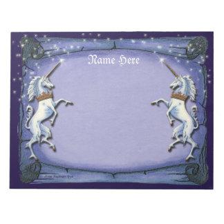 Unicorns Purple Scroll Scratch Pad