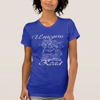 Unicorns Read - Women's Jersey Tee -WL