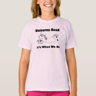 Unicorns Read...- Youth Tee Shirt - BL