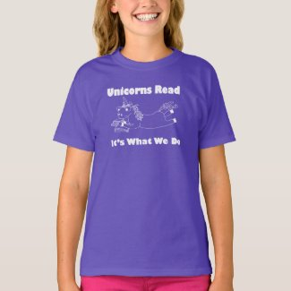 Unicorns Read...- Youth Tee Shirt - WL