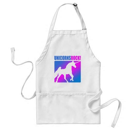 Unicorns Rock #4 Adult Apron
