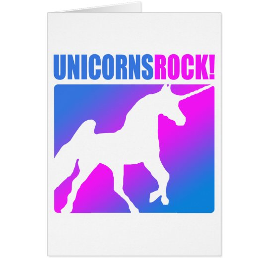 Unicorns Rock! Card