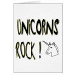 Unicorns Rock! Greeting Card