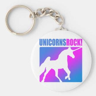 Unicorns Rock! Keychains