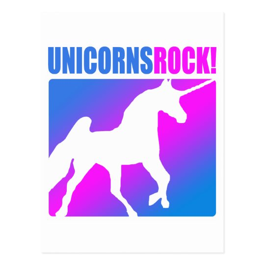 Unicorns Rock! Postcard