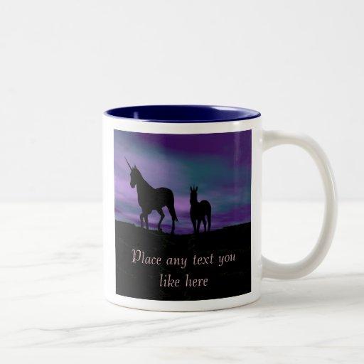 Unicorns Siluet mug