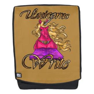 Unicorns Write Backpack