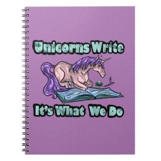 Unicorns Write - It's What We Do Notebook