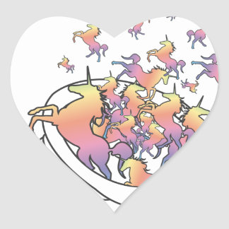 Unicornucopia Heart Sticker