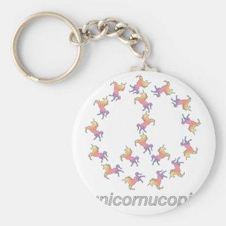 ¡#Unicornucopia! Paz del unicornio Llavero Redondo Tipo Pin