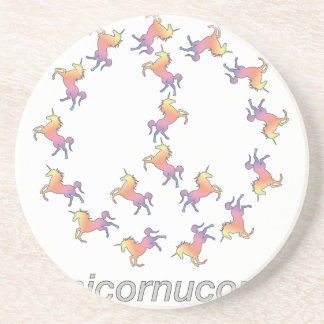 ¡#Unicornucopia! Paz del unicornio Posavaso Para Bebida