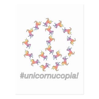 ¡#Unicornucopia! Paz del unicornio Postal