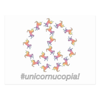¡#Unicornucopia! Paz del unicornio Postales
