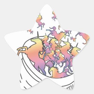 Unicornucopia Pegatina En Forma De Estrella