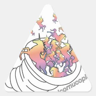 Unicornucopia Pegatina Triangular