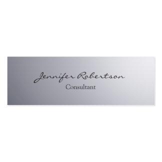 Únicos llanos grises simples clásicos adelgazan tarjetas de visita mini