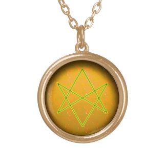 unicursal hexagram (air) gold plated necklace