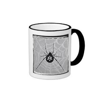 Unicursal Hexagram Black Widow Mug