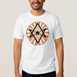 Unicursal Hexagram Orange Sunburst T-shirts