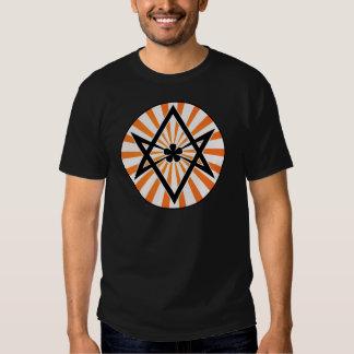 Unicursal Hexagram Orange Sunburst Tees