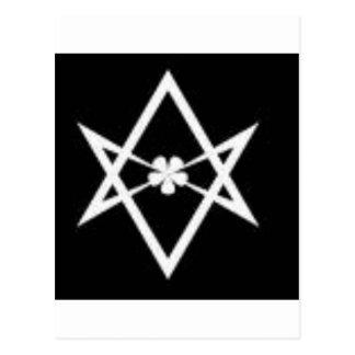 unicursal hexagram postcard