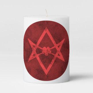 Unicursal Hexagram (Red Textured) Pillar Candle