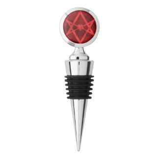 Unicursal Hexagram (Red Textured) Wine Stopper
