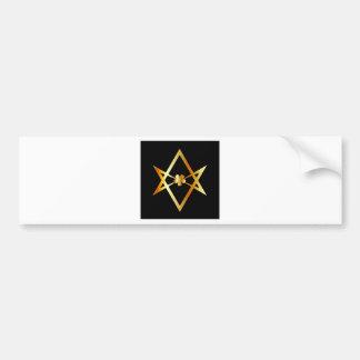 Unicursal hexagram symbol bumper sticker