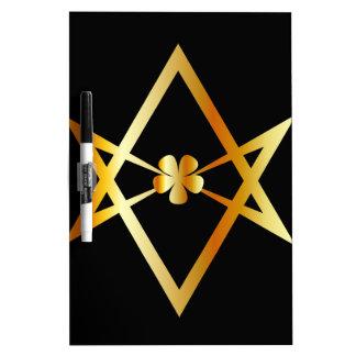 Unicursal hexagram symbol Dry-Erase board