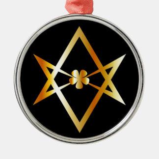 Unicursal hexagram symbol metal ornament