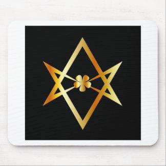 Unicursal hexagram symbol mouse pad