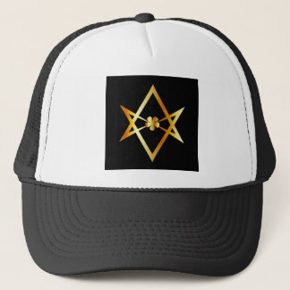 Unicursal hexagram symbol trucker hat
