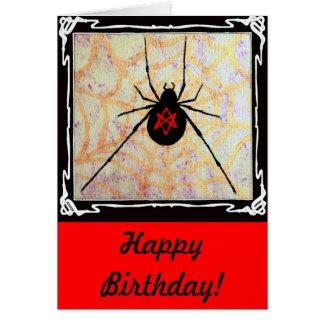 Unicursal Redback Birthday Card