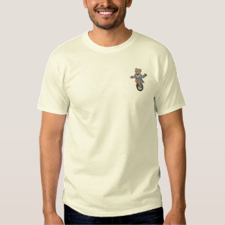 Unicycle Bear Embroidered T-Shirt