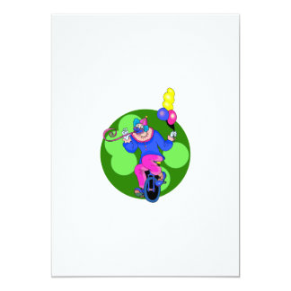 Unicycle Clown Card