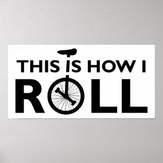 Unicycle cómo ruedo el poster divertido