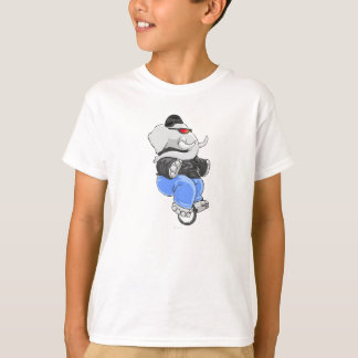 Unicycle del elefante playera
