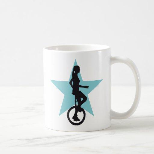 unicycle more rider coffee mug