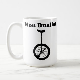 Unicycle non dual humor mug