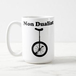 Unicycle non dual humor mug