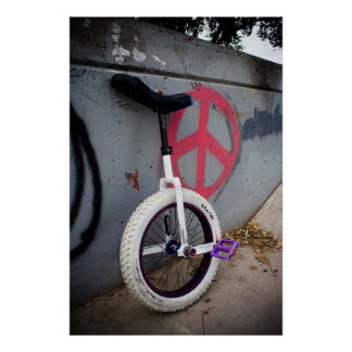 Unicycle para la paz póster