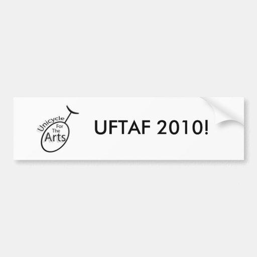 Unicycle para los artes 2010 pegatina de parachoque