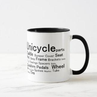 Unicycle parts mug